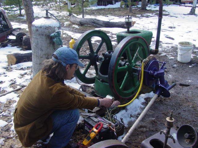 Testing the Volvo brake disk alternator