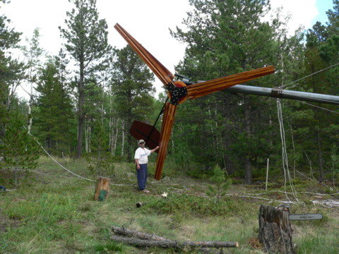 Large 20' diameter wind turbine