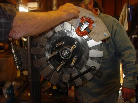 coil testing with 1 rotor