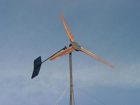 17 foot diameter wind turbine on tower