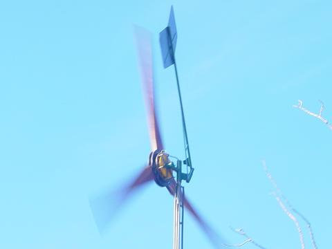 17 foot wind turbine fully furled