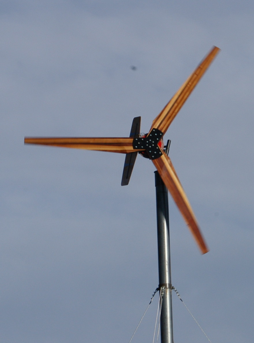 Large 17' diameter wind turbine