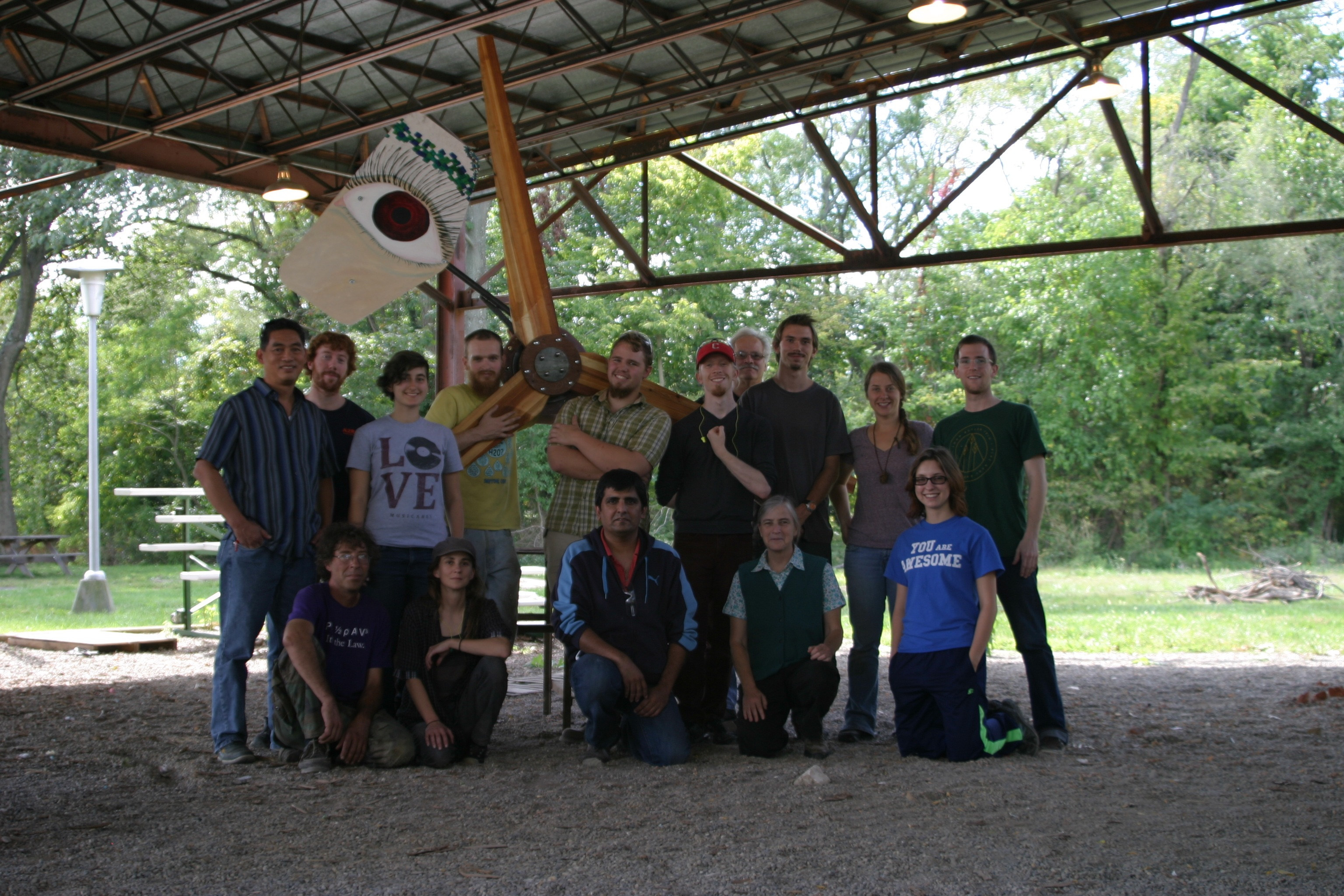 Homebrew wind power class, Antioch College, Yellow Springs, Ohio 2014