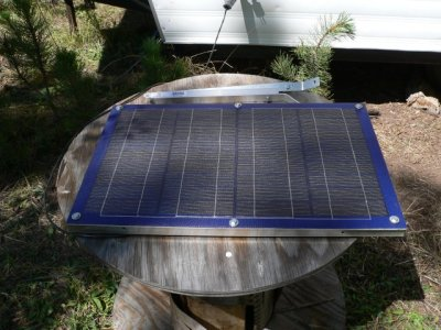our glass-less, fiberglass embedded solar panel with homebuilt aluminum frame