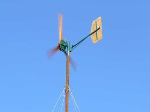 Photo of windmill in action.