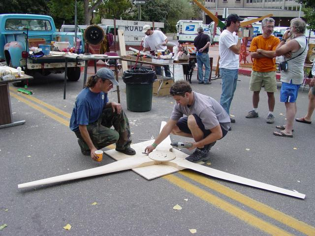 Assembling the blades
