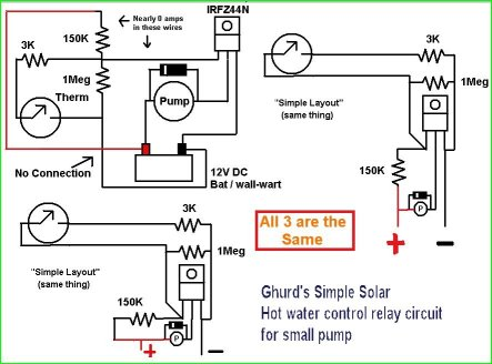 ghurdsolarwaterrelaycircuit1 my $300 solar water heater system for parents presto heat dish wiring diagram at soozxer.org