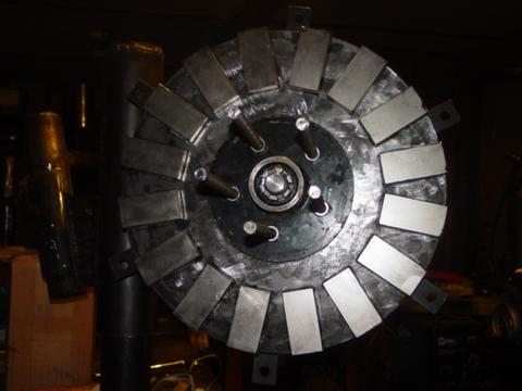 magnets glued on rotor