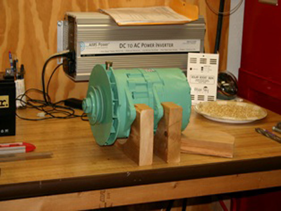 how to make a wind generator with car alternator