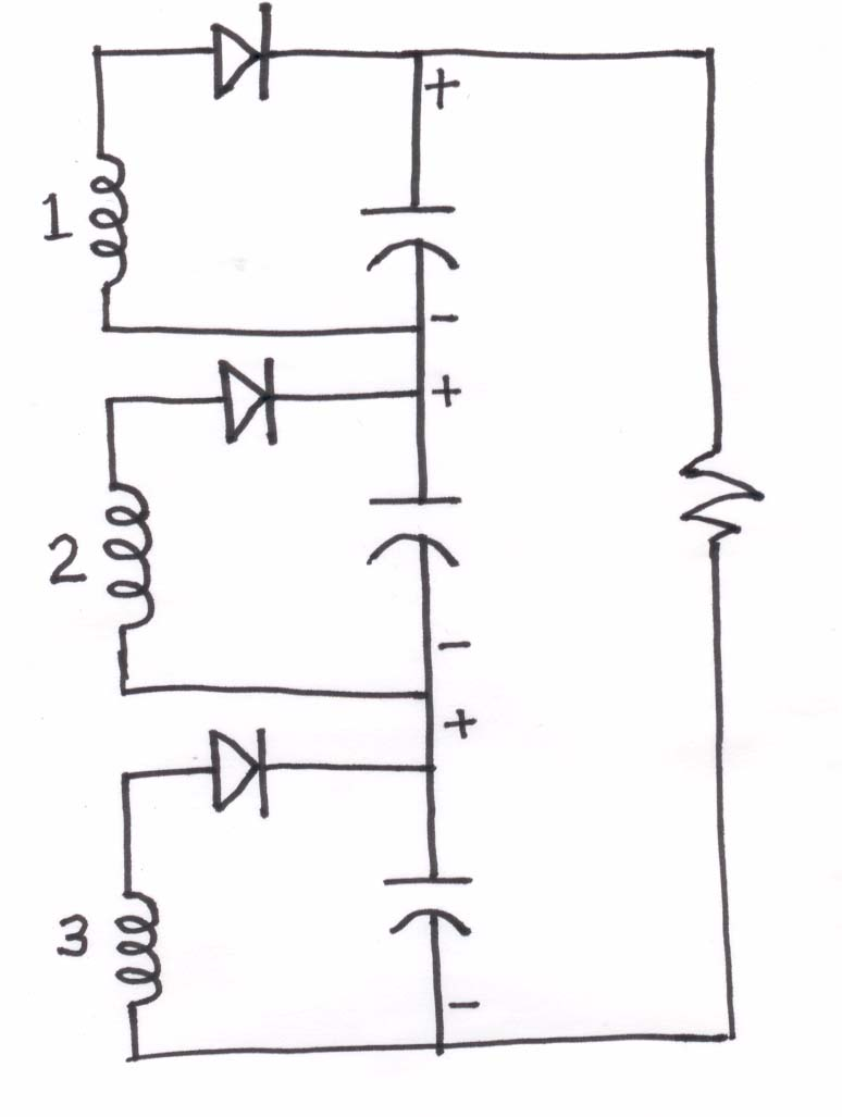 Current Multiplier Circuit Diagram | Voltage Doubler Using 3 Phase From Airx