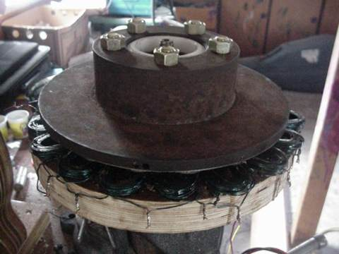 Homemade Volvo Brake Disc PM alternator, 800 watts, $150!