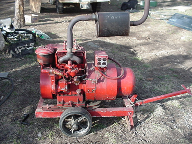 Big Red, DanF's old 2-cylinder wisconsin genny