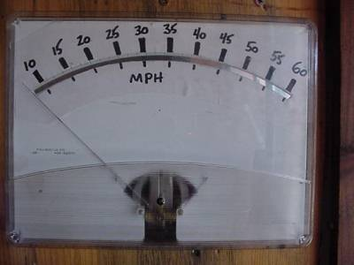BIG 8x10 inch analog meter with new hand-drawn scale