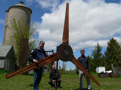 Big 15 foot wind turbine rotor