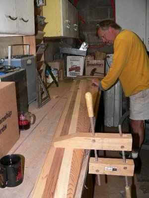 roughing out wind turbine blades with a mallet and chisel