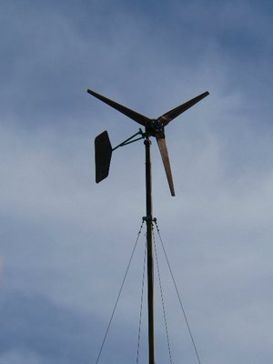 The 10 foot turbine flying