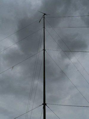 The 10 foot turbine flying