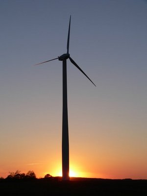 Large Vestas wind turbine on the door peninsula